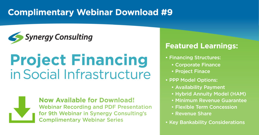 Synergy Webinar: Project Financing in Social Infrastructure